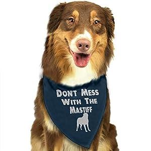HJKH PJKL Don't Mess with The Mastiff Pet Dog Puppy Cat Triangle Bibs Scarf Bandana Collar Neckerchief Mchoice - Any Pets 1