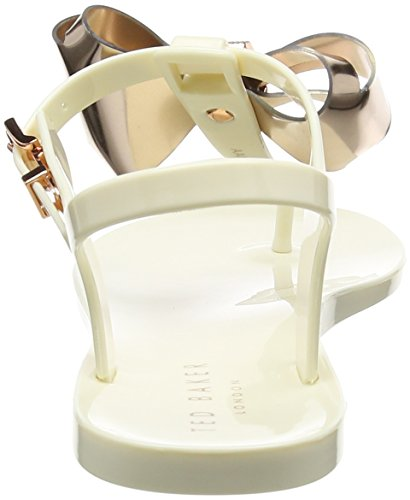 Baker rose Ainda Women''s cream Multicolour Gold toe Sandals Open Ted 4UPxdCqww