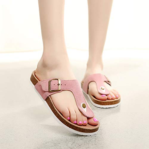 Home In Fashion Antiscivolo Pantofole Ladies flops Huyp dimensioni Flip Spiaggia Summer 36 Pink Sughero Girl WZCqxTwZa8
