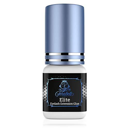 Fastest Elite Eyelash Extension Glue 5 ml | Forabeli | 1 Sec Drying time | Retention 7 weeks | Professional Use | Individual Semi Permanent Eye Lash Extensions Supplies | Black Adhesive