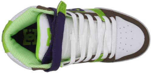 DC Shoes Tricky Mid, Damen Sportschuhe - Skateboarding Weiß (White/Soft Lime)