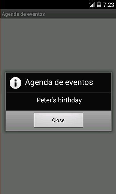 Amazon.com: Agenda de eventos: Appstore for Android