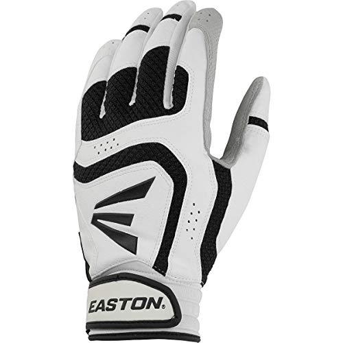 Easton Youth Vrs Icon Batting Gloves (Medium, White/Black)