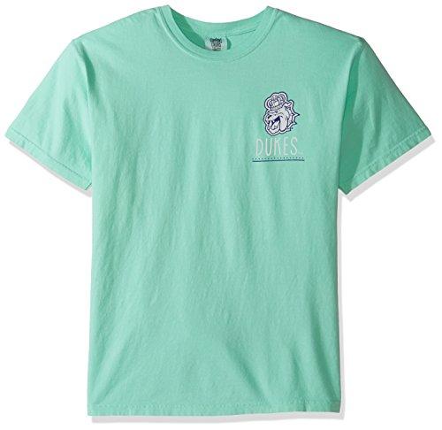 NCAA James Madison Dukes Life Is Better Comfort Color Short Sleeve T-Shirt, Island Reef,IslandReef