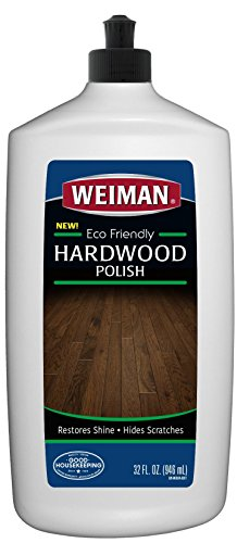 Weiman Ecofriendly Wood Floor Polish - 32 Fluid Ounces - Safe Around Kids or Pets - Restore Shine Hardwood Finished Oak Maple Cherry Birch Walnut Engineered Hardwood Vinyl Laminate
