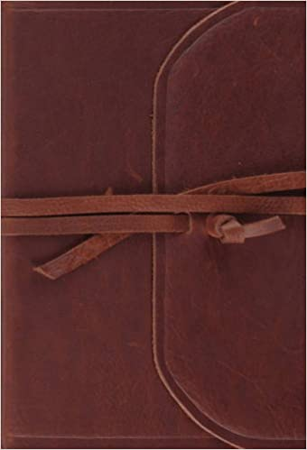 ESV Large Print Compact Bible (Brown, Flap with Strap