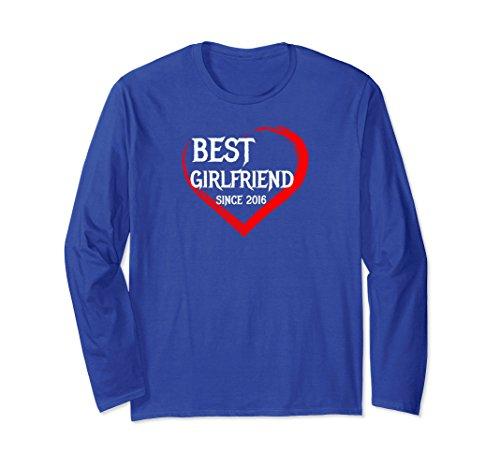 Unisex Best Girlfriend Since 2016 1st Year Anniversary T-shirt 2XL Royal Blue