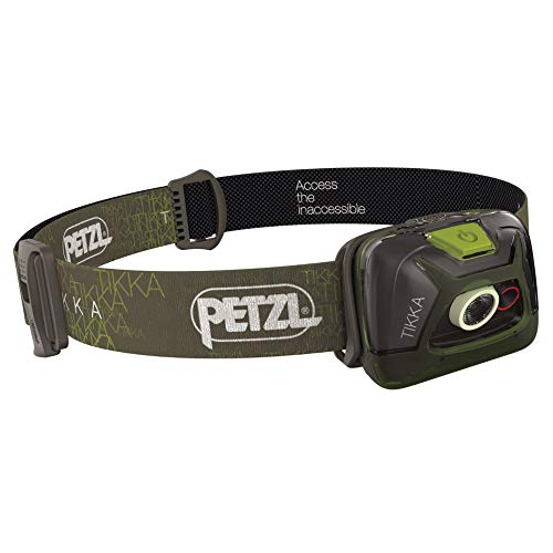 PETZL - TIKKA Headlamp, 200 Lumens, Standard Lighting, Green