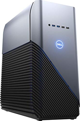 Dell Inspiron Gaming PC Desktop AMD Ryzen 7 2700 Processor, 16GB DRAM, 1TB HDD, AMD Radeon RX 580 4GB GDDR5 Graphics Card, Windows 10 64-bit, Blue LED, Model Number: i5676-A696Blu (Best Gaming Pc Under 5000)