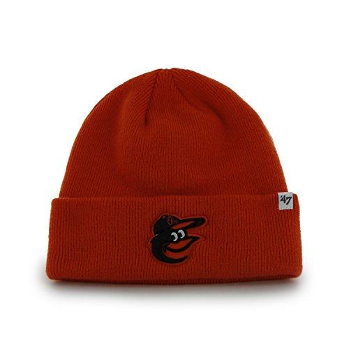 Baltimore Orioles Orange Cuff Beanie Hat - MLB Cuffed Knit Toque Cap by '47