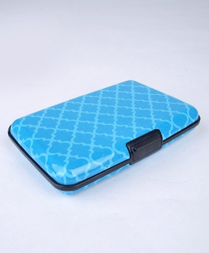 d207d2da740a Card Guard Aluminum Compact Card Holder -Blue Pattern - Buy Online ...
