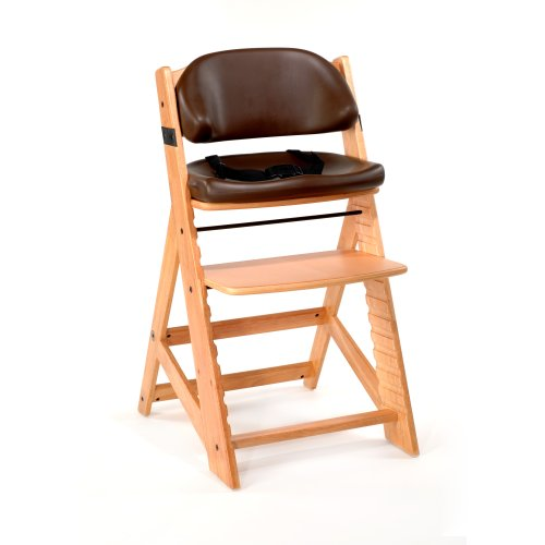 Natural Height Right (Keekaroo Height Right Kids High Chair with Comfort Cushions, Natural/Chocolate)