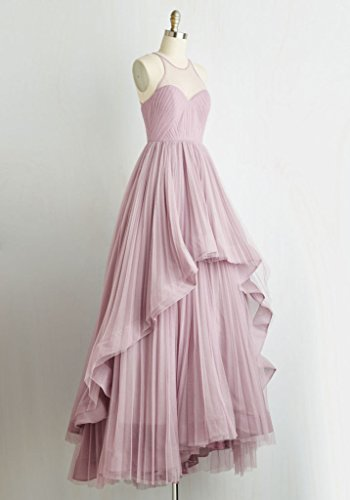 Tulle Dresses Line A Gowns Homecoming Evening Amore Coral Long Prom Women's Bridal qgnaXO
