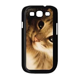 Samsung Galaxy S3 Case Cute Lazy Kitten, Shock Absorb Cute Kitten Jumphigh, {Black}
