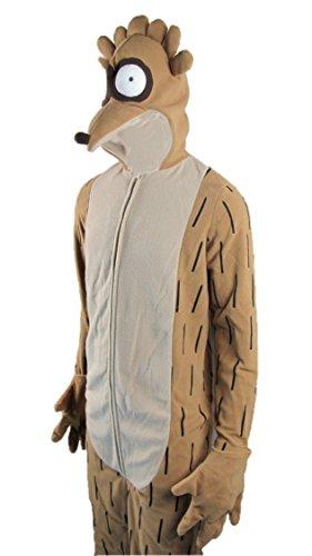 Oem Men's Regular Show Rigby Jumpsuit Costume S/M Brown