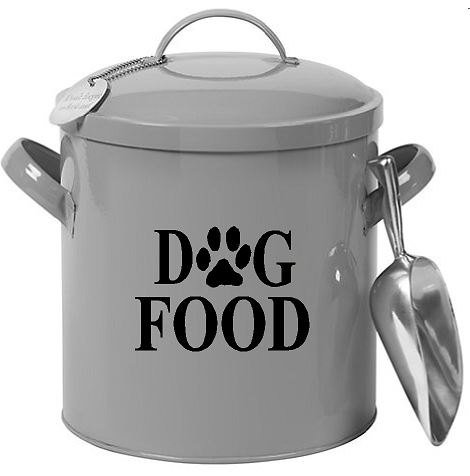 Dog Food Decal Vinyl Sticker|Cars Trucks Vans Walls Laptop| BLACK |3 x 5 in|CCI935