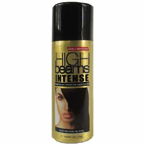 high beams Intense Temporary Spray on Hair Color, Brown Blac