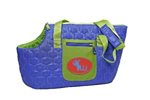 Waghearted Quilted Nylon Cozy Carrier, Blue