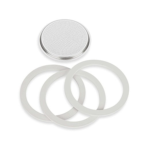 Bialetti Gaskets & Filter Set for Bialetti Moka Express 12-Cup Espresso Machine ()