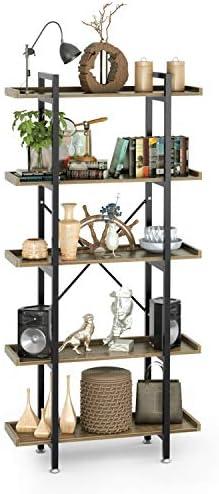 Cyfie 5 Tier Bookcase Bookshelf