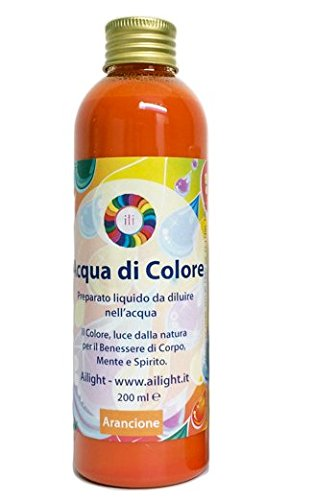 Acqua di Colore Arancione 200 ml - Preparato liquido per bagni cromoterapici Ailight