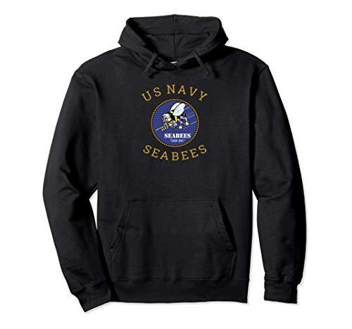 (US Navy Seabee Hoodie U.S. Seabees Veteran Gift)