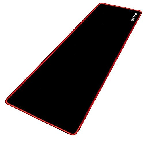 Extended Gaming Mouse Pad, Leadpo Large Mouse Pad 3mm Thick Waterproof Mouse Mat Gaming Functional Non-slip Rubber Base and Red Edge (30.7 x 11.8 x 0.12 inches) by GIM
