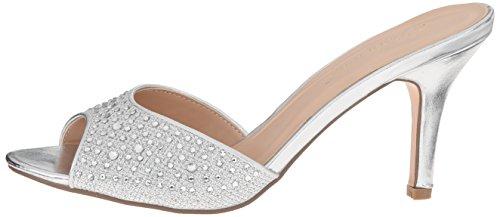 Mujer Tacón Zapatos Lucy Fabric slv De Pleaser Plateado 01 Glitter Mesh XwHBIqwAnx