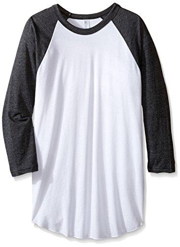 American Apparel Poly-Cotton 3/4 Sleeve Raglan Shirt