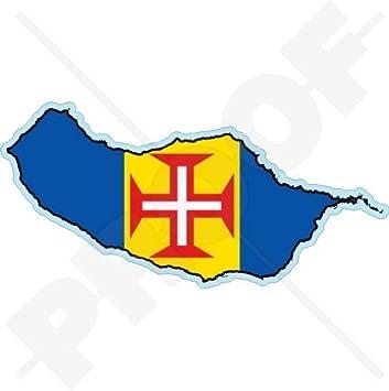 Amazoncom MADEIRA ISLAND MapFlag Funchal Portugal MADEIRAN - Portugal map flag