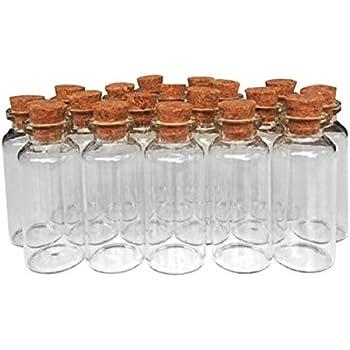 4c9d2855a85d Amazon.com: ASTRQLE 12pcs 7ML 22x 40MM Small Glass Bottles Jar Vials ...