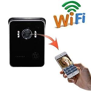 Ckeyin timbre de puerta inal mbrico con intercomunicador ip mirilla c mara de v deo wifi - Camara mirilla puerta wifi ...