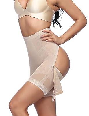 FeelinGirl Women's Tummy Control Shapewear Thong High Waist Ladies Bodysuits
