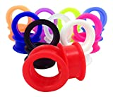 -10 PAIR SET - Soft Silicone Ear Tunnels Plugs Gauges Earlets - up to size 50mm! (1&1/4'' (32mm))