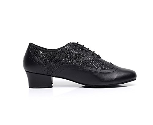 Mens Spotted 45 shoes Lace Pu Aqq Jazz Toe 9019 Black Eu up Modern Dance Closed pTOPw5WqRP