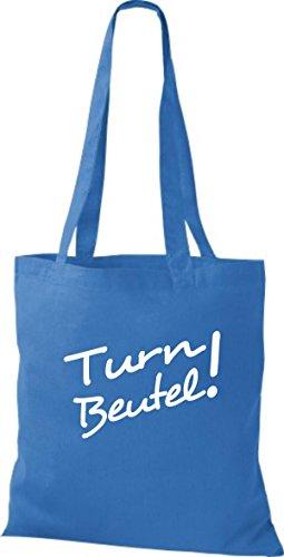ShirtInStyle Stoffbeutel Turn Beutel Sporttasche, diverse Farbe brightroyal