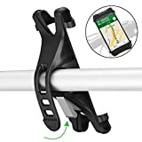 TOPCABIN Bike Phone Mount Motorcycle Handlebar Mount Anti Shakephone Holder for Bicycle Universal Bike Phone Holder for iPhone X(8, 7, 6 Plus), Samsung Galaxy or Any Cell Phone (Black)