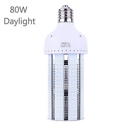 (80W LED Corn Light Bulb(E39 Mogul Base)8000Lm 6500K Cool White,for Metal Halide HPS HID Replacement Garage Parking Lot High Bay Warehouse Street Lamp Lighting)