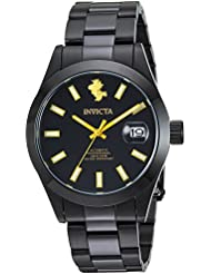 Invicta Mens Character Collection Automatic Stainless Steel Casual Watch, Color:Black (Model: 24971)