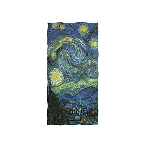 Pingshoes Starry Night Hand Towels Ultra Soft Luxury Cotton Face Towel Washcloths for Home Kitchen Bathroom Spa Gym Swim Hotel Use
