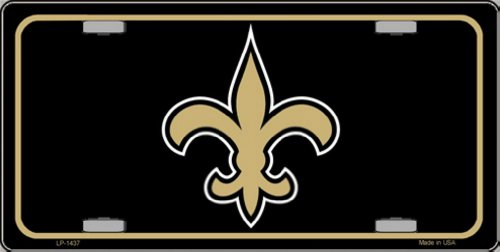 Smart Blonde LP-1437 Fleur de lis Metal Novelty License Plate (New Orleans Saints License Plate)