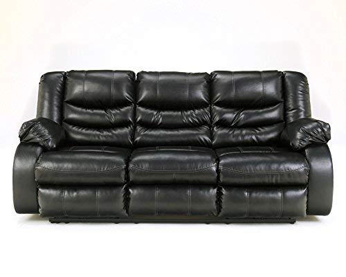 - Signature Design by Ashley 9520288 Linebacker DuraBlend Collection Reclining Sofa, Black