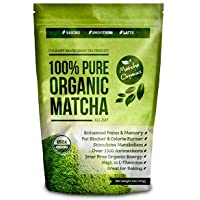 100% USDA Organic Matcha Green Tea Powder Extract - Fat Burner & Weight Loss Diet Supplement & Metabolism Booster - Natural Detox All Day Energy & Mental Focus - Latte, Smoothie, Shake & Baking Mix - Improved Hair & Skin Health (4oz)