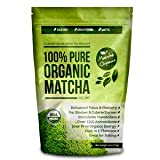 Matcha Organics Classic Matcha Green Tea Powder Extract - 100% Pure USDA Organic Culinary Grade - Bulk Starter Bag 4oz / 113gm - Latte Mix, Smoothies, Baking Foods - FREE Top 100 Matcha Recipes Ebook