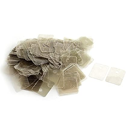 Amazon.com: 200Pcs 22mmx29mmx0.12mm hoja de mica aislante ...