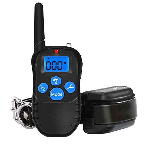 Remote Dog Training Collar 100% Waterproof and Rechargeable Dog Shock Collar 330 yd with Beep/Vibration/Shock Electric E-Collar Upgraded Model
