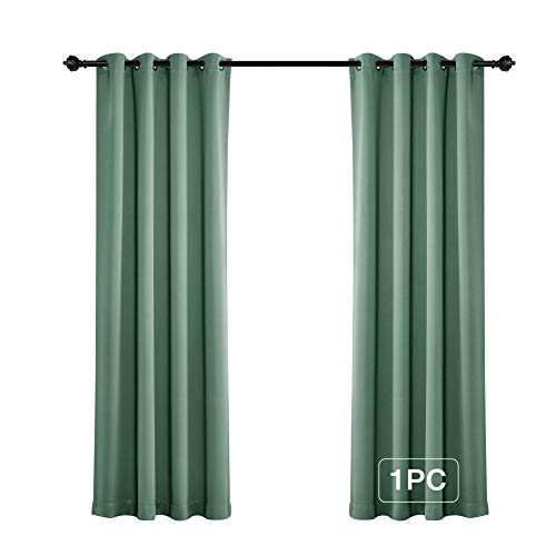 MYSKY HOME Solid Grommet top Thermal Insulated Window Blackout Curtains, 52 x 84 Inch, Teal, 1 Panel
