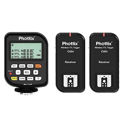Phottix Odin TTL Flash Trigger for Canon, 2 Receivers