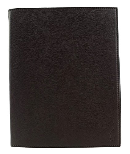 Polo Ralph Lauren Pebbled Leather Tablet Case for iPad, Brow