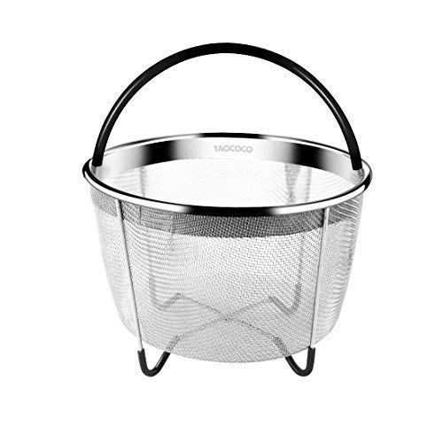 Steamer Basket, Taococo InstaPot Accessories for 6 or 8 Quart Fits InstaPot Pressure Cooker, Food Grade Stainless Steel Steamer Great for Steaming Fruits Vegetables Eggs (6 Quart)